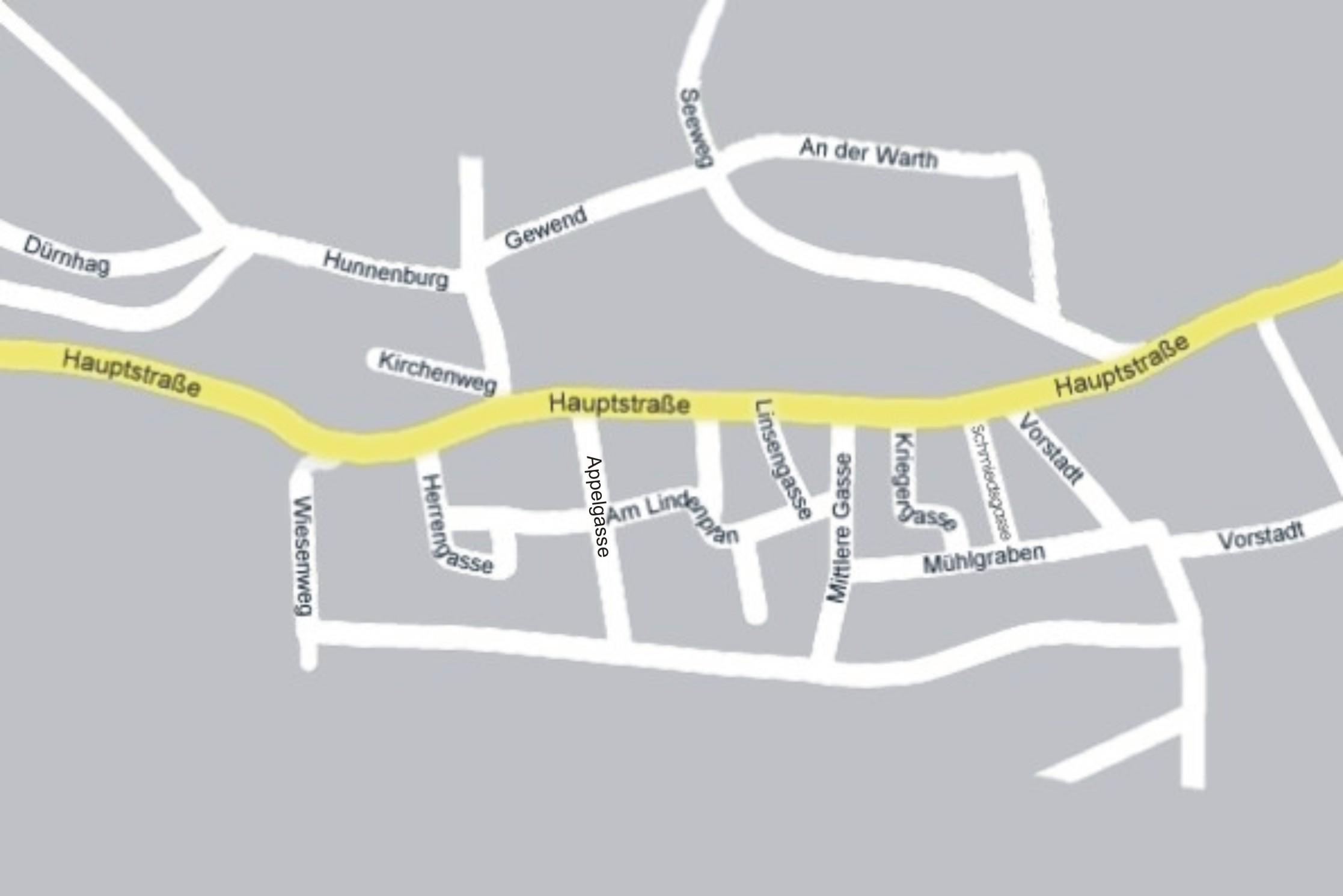 Strassenplan von Eyershausen