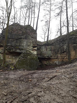 Abbruchkante im Steinbruch Eyershausen